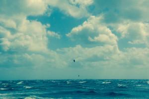 Kitesurfen bei Sturm auf Föhr